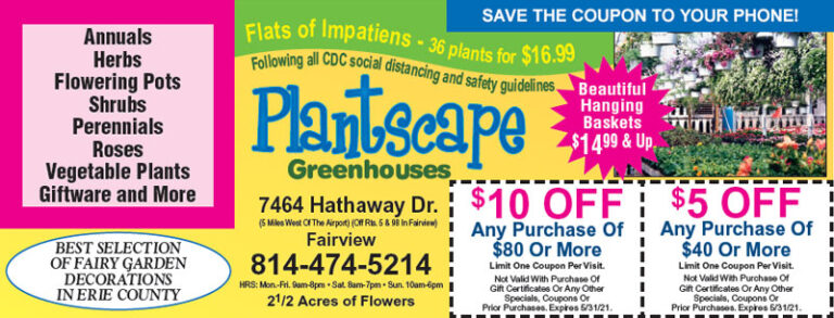 Plantscape May 2021 coupon